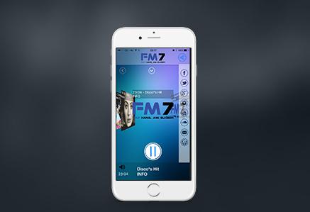 FM7 -rádió app